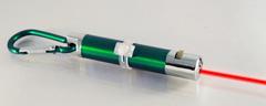 Zelená párty karabinka s laserovým ukazovátkem